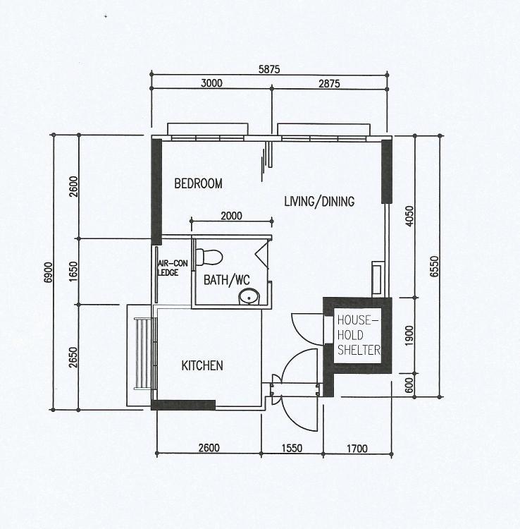Hdb Floorplan And My 3d Design Made With Planner 5d My Modern Zen 2 Room 35sqm Type 1 Hdb Bto Apartment Renovation Journey